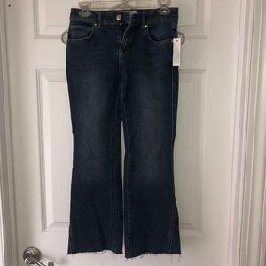 Dark blue low rise, Capri jeans
